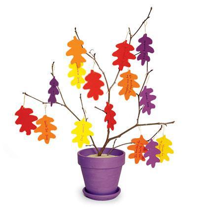 Thankful tree decoration kinderland for Thankful tree craft for kids